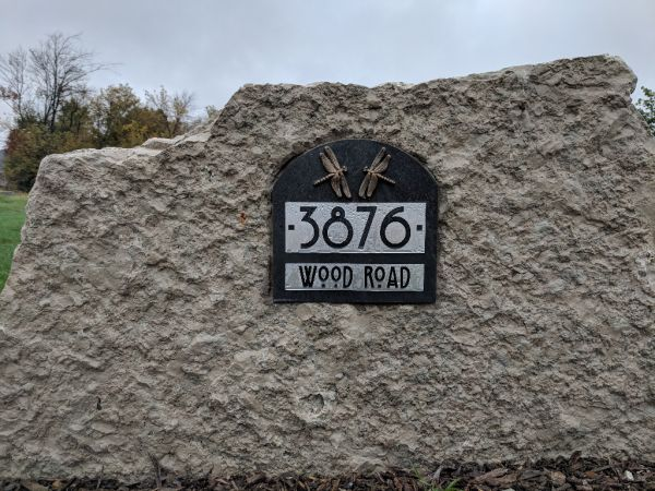 Address Label Monument Sign