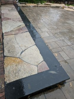 Black Coping Flagstone Inlay Chilton Accents