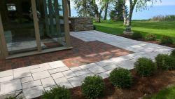 Clay Brick Valders White Paver Patio Modern