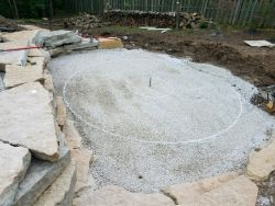 Lower Patio Fire Pit Unilock Layout