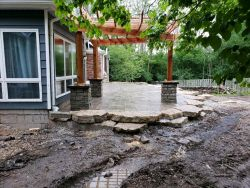Pergola Natural Outcropping Step Up