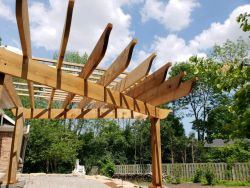 Three Post Cedar Pergola