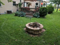 Germantown  WI   Before Fire Pit   Patio   Unilock